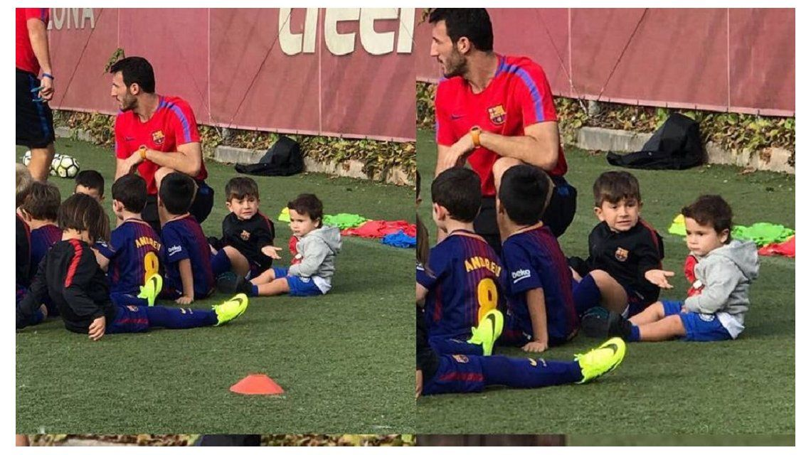 Messi se hartó y escrachó a uno de sus hijos