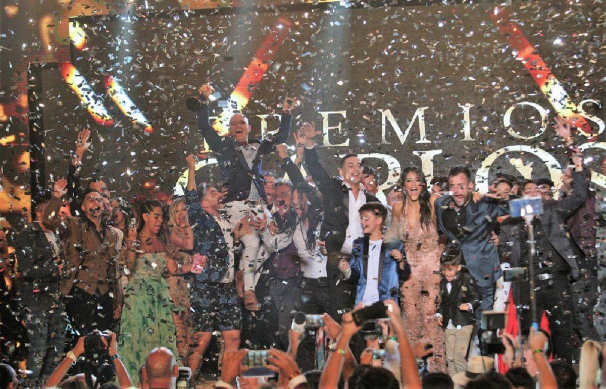 El festejo en los Premios Carlos 2018
