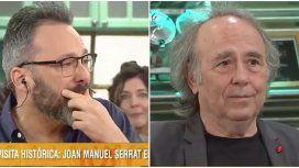 Emotivo momento de Joan Manuel Serrat junto a Gerardo Rozín