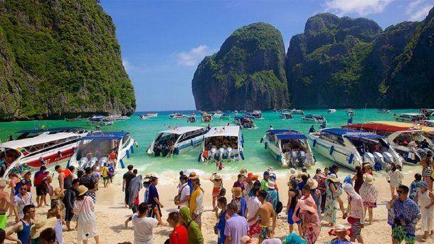 Maya Bay en Tailandia<br>