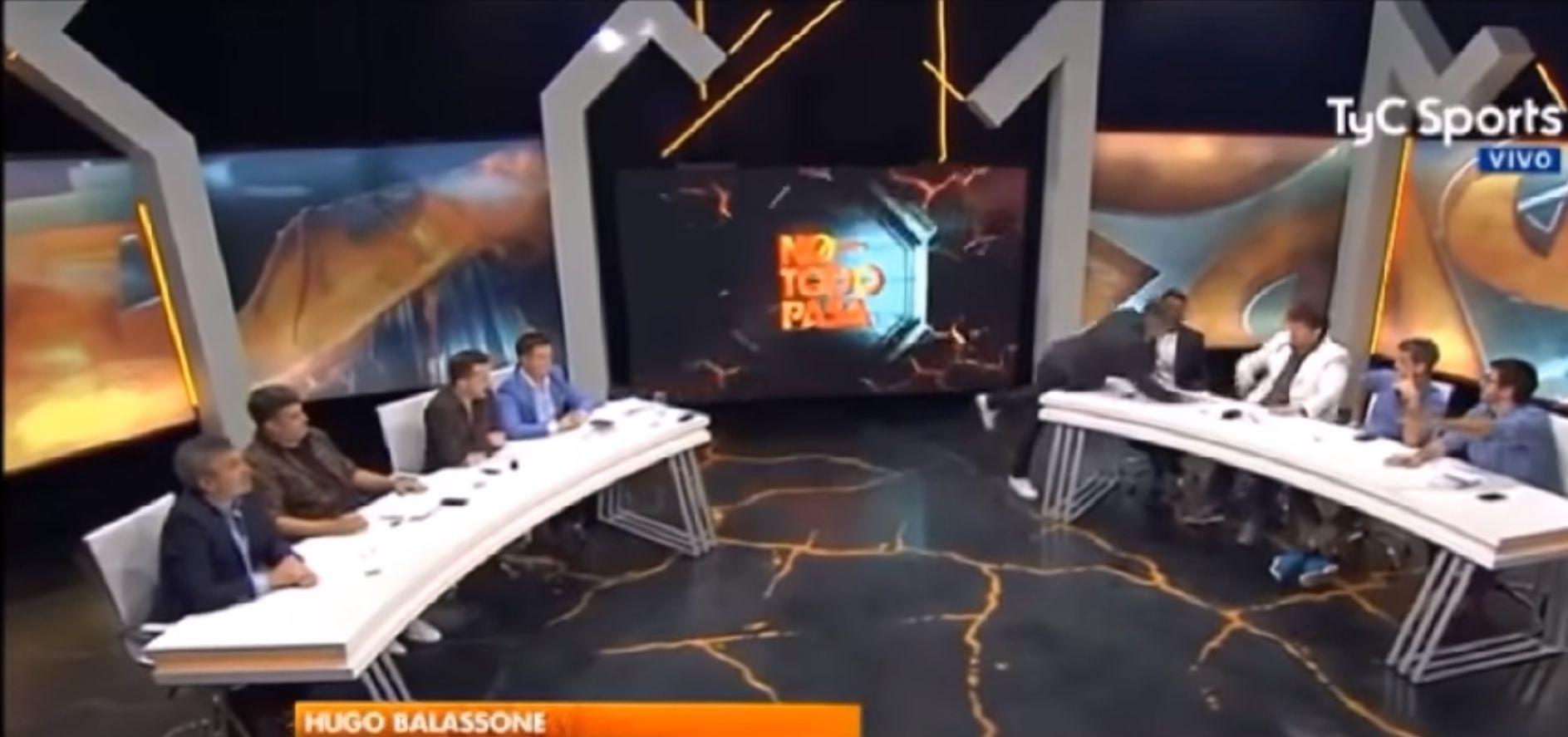 Un conductor  de TV se enojó con un panelista y lo quiso echar del programa