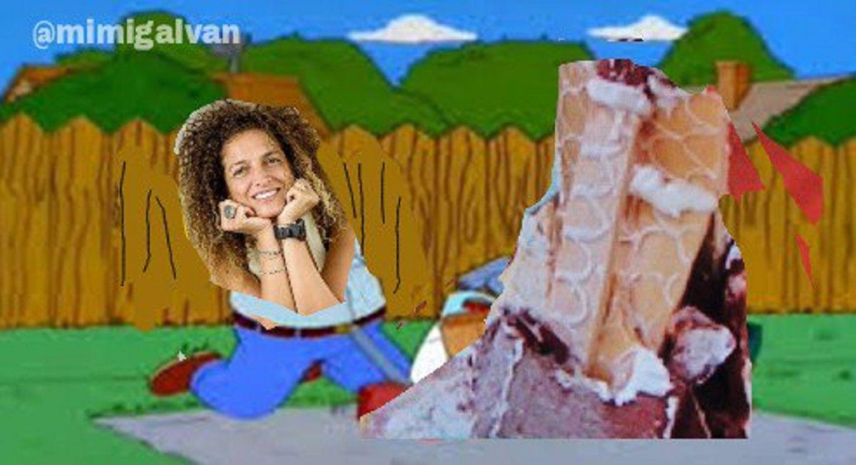 Marcela protagonizó los memes de Bake Off Argentina