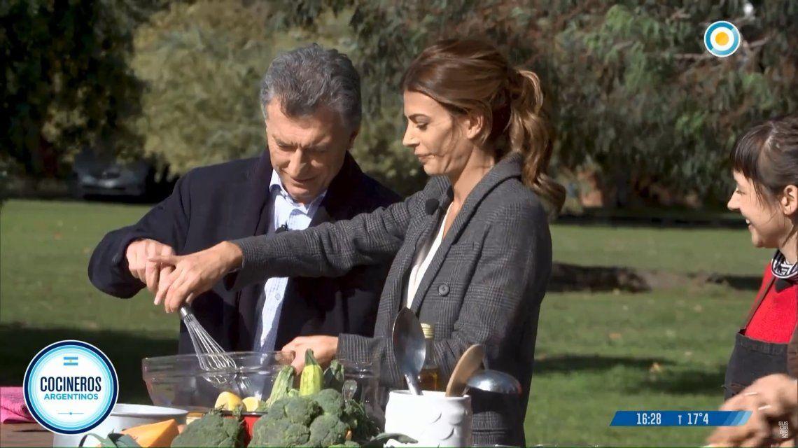 Macri en Cocineros Argentinos: No sé cocinar pero hago grandes sándwiches