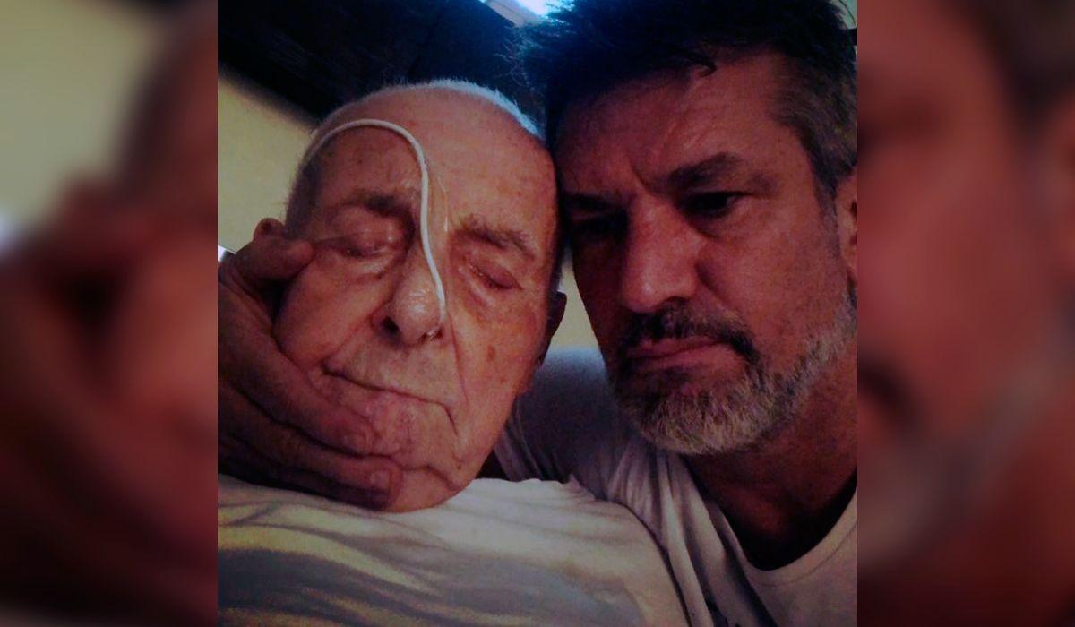 Diego Díaz con su padre en Instagram