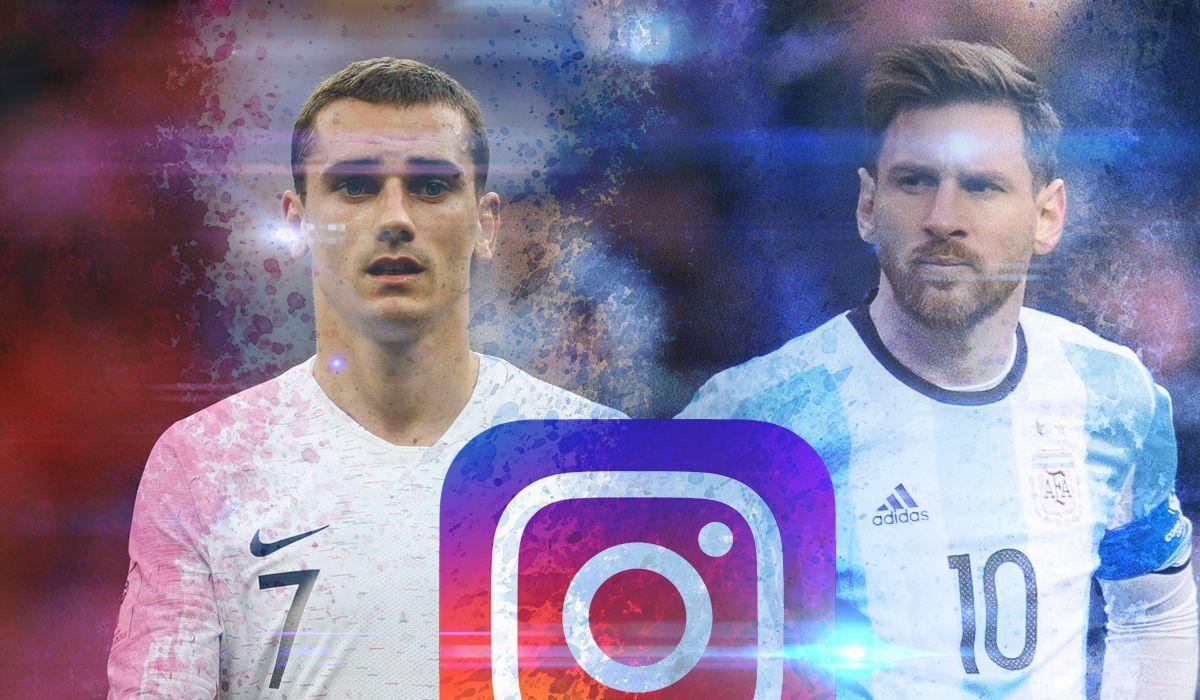 Francia y Argentina: la rivalidad en Instagram