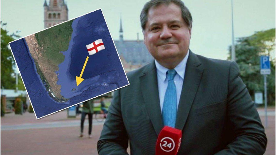 Periodista chileno quiso hacer un chiste sobre el Mundial haciendo referencia a las Malvinas.