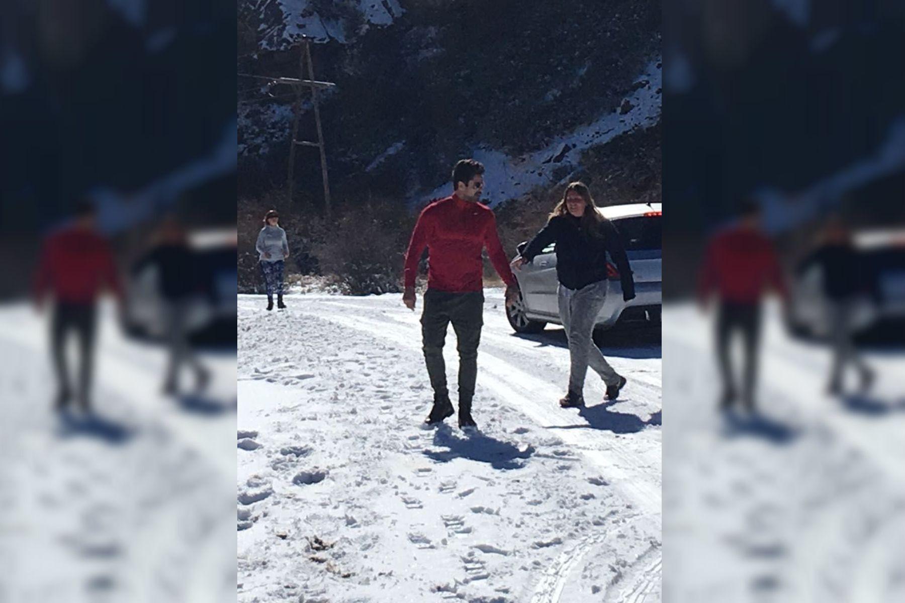 Mendoza: Luciano Castro auxilió a una familia que quedó atascada en la nieve