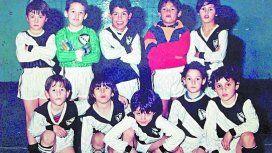Carlitos Tevez cuando jugaba en All Boys junto al Guacho Cabañas