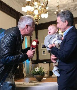 Marley con Mirko y Macri