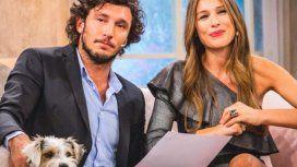 Pampita y Pico Mónaco, unidos por el perro Osvaldo.