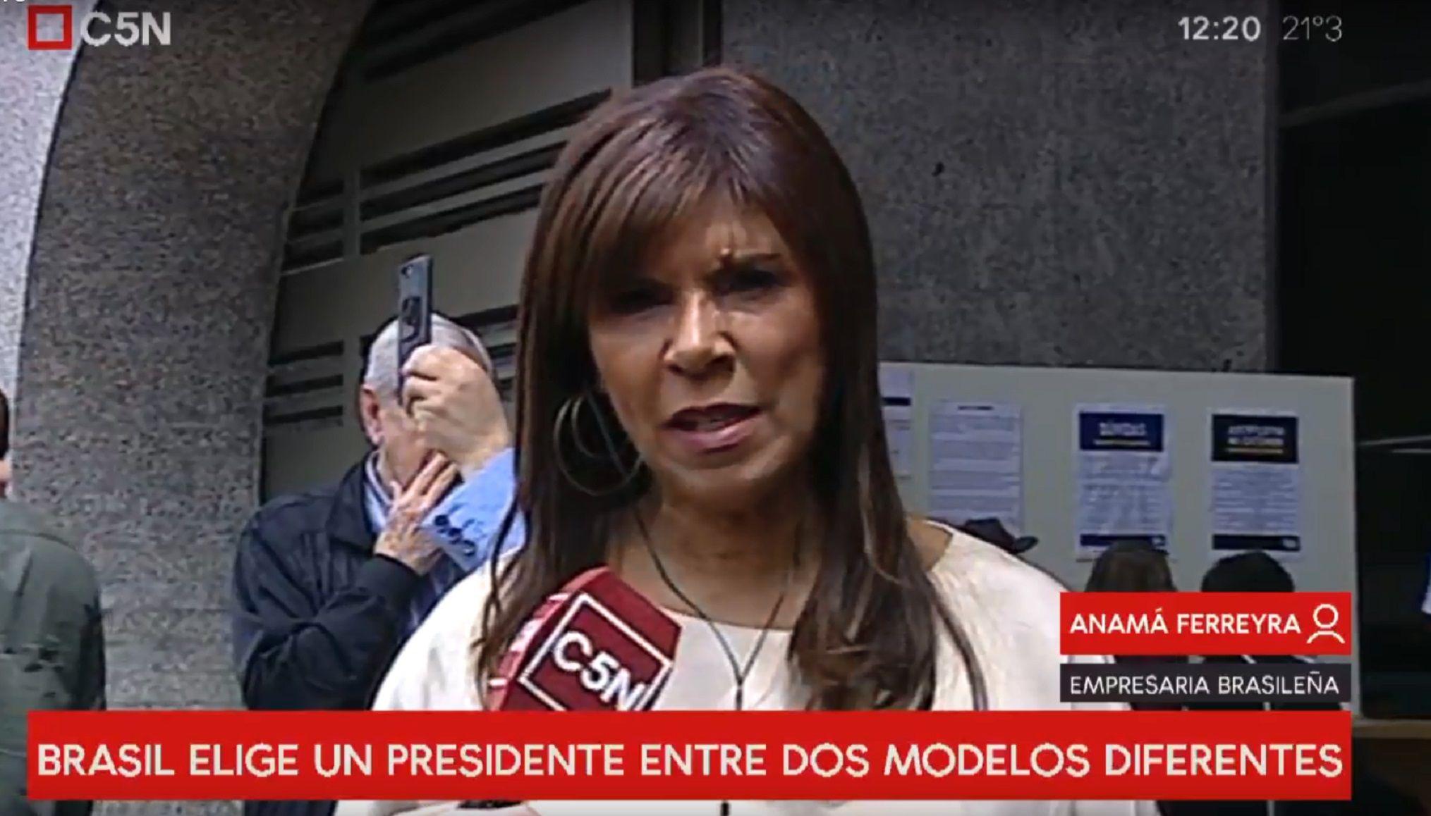 El pronóstico de Anamá Ferreira para el balotaje entre Bolsonaro y Haddad