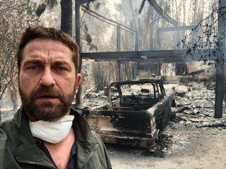Gerald Butler, afectado por el incendio en California