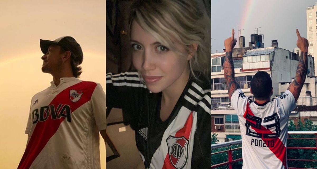 El festejo de los famosos por River campeón de la Copa Libertadores