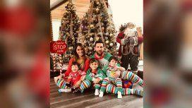La Navidad feliz de Antonela Roccuzzo y Lionel Messi con sus hijos