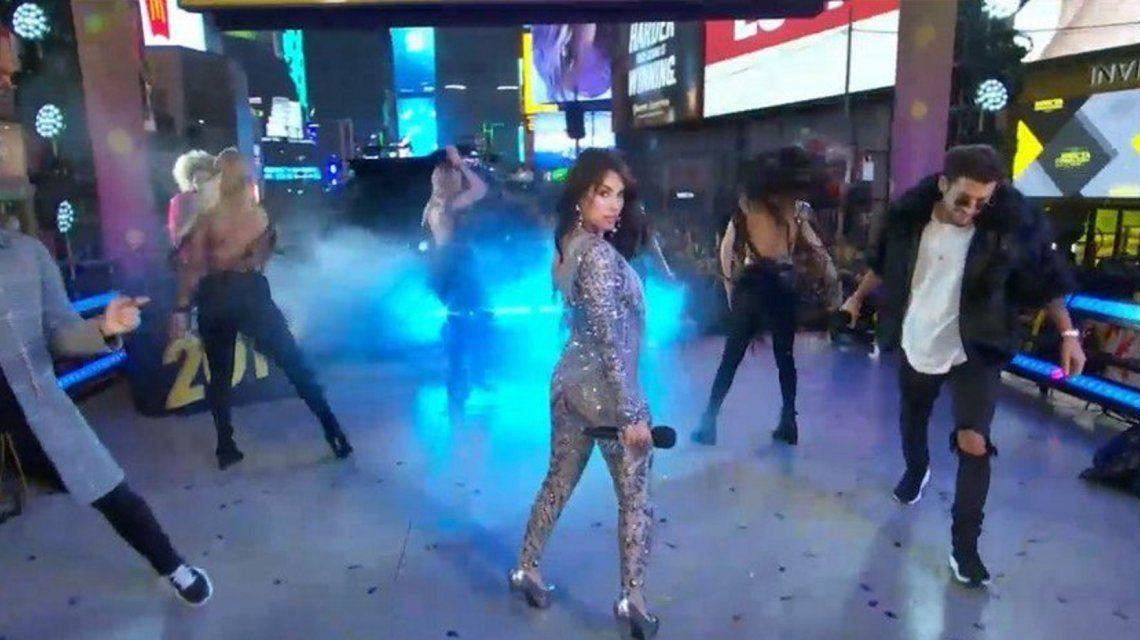 Lali Espósito conquistó Times Square en los festejos de Año Nuevo