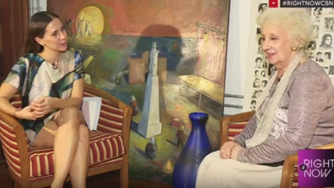 Estela de Carlotto le preguntó a Cristina si quiere volver a ser presidenta