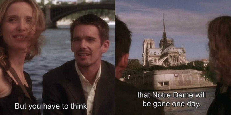 La escena de Antes del atardecer que predijo la destrucción de Notre Dame