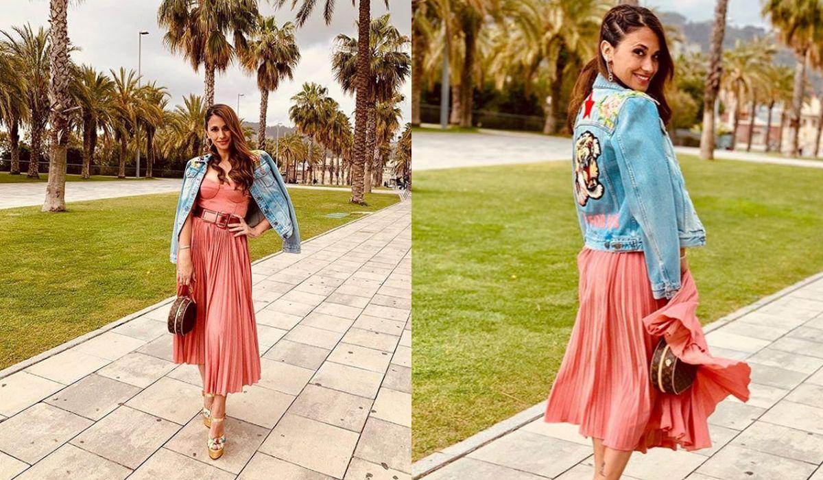 El look de Antonela Roccuzzo en la Barcelona Bridal Fashion Week
