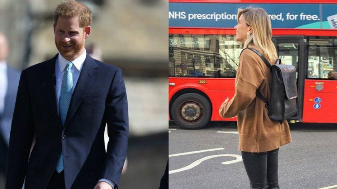 Hi William: el saludo de Laurita Fernández en Londres para el príncipe Harry