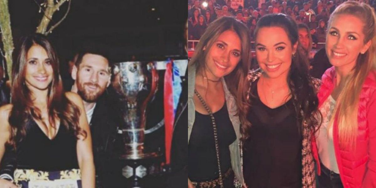 Las fotos del festejo del Barcelona: Shakira y Antonela, juntas en una selfie