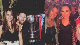 Las fotos del festejo del Barcelona: Shakira y Antonela