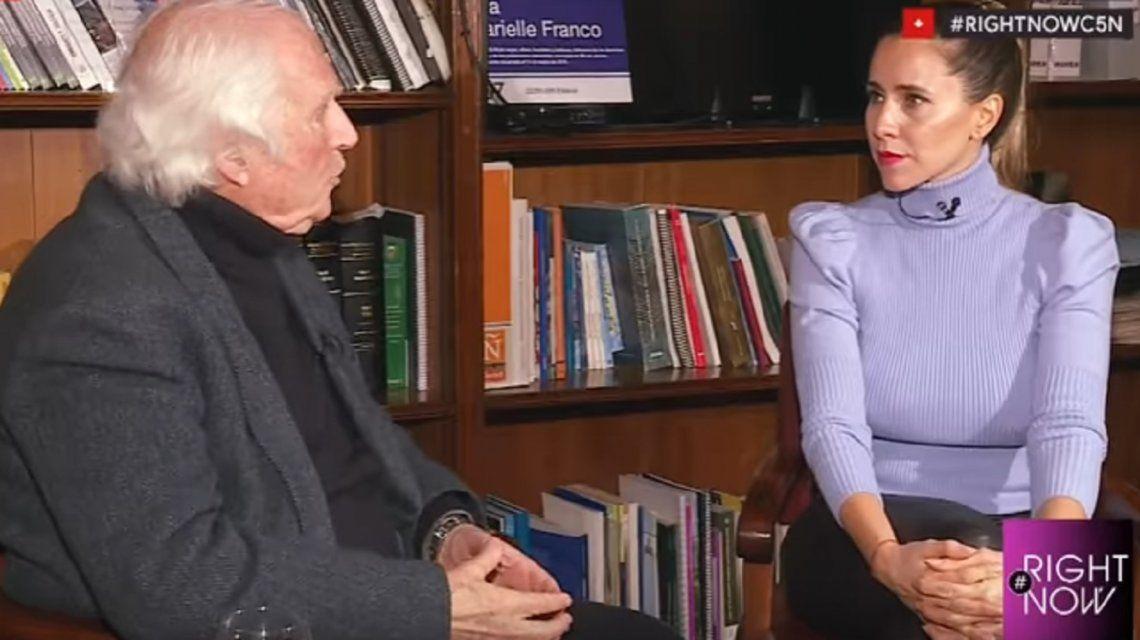 Pino Solanas, con Julieta Camaño en C5N: La gente me dice hay que sacar este Gobierno