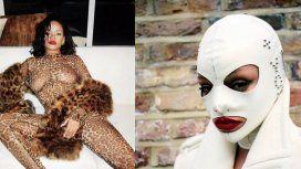 Rihanna, sexy y bizarra en una producción de fotos para una exclusiva entrevista
