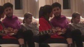 Sebastián Yatra y Tini Stoessel hicieron un show privado para Antonia Macri