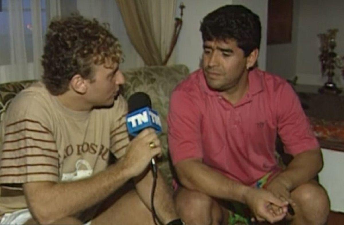 Sergio Gendler y Diego Maradona
