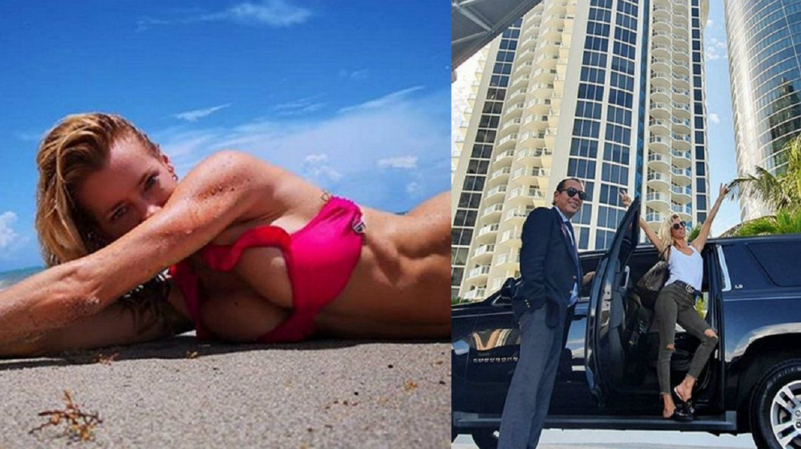 Nicole Neumann se muestra muy sensual en Miami