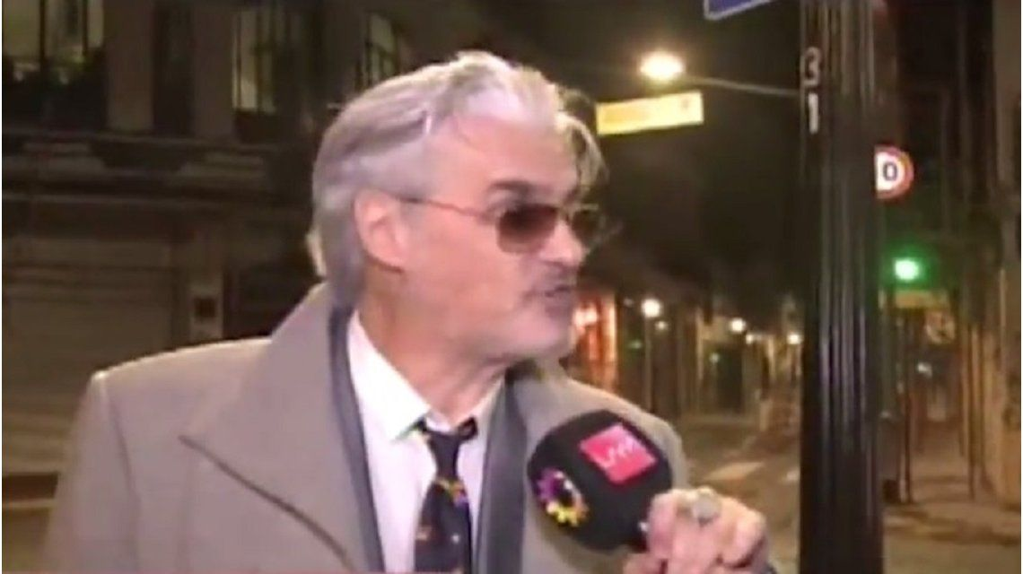 Roberto Pettinato estalló contra un movilero: No me hinches las p...