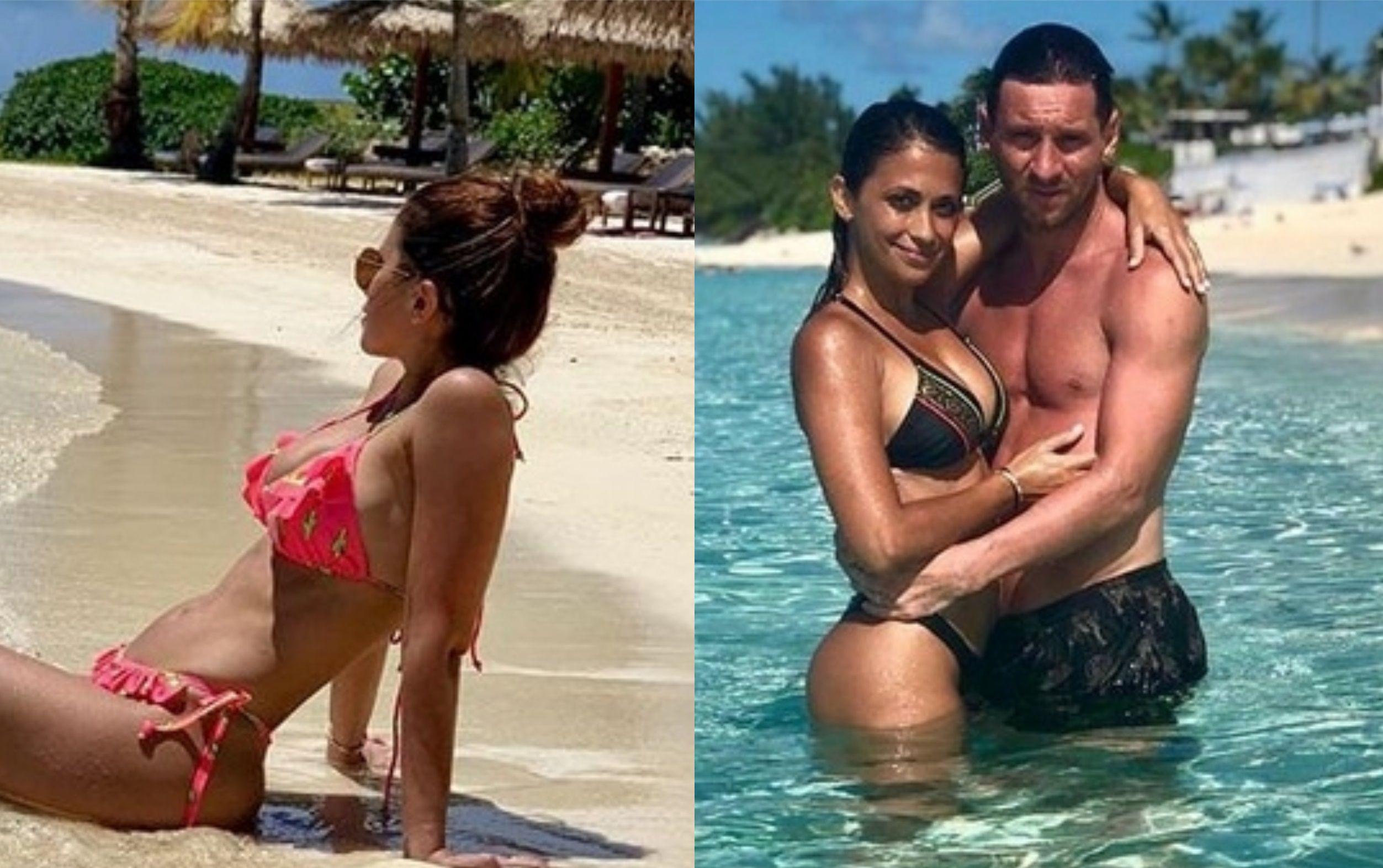 Lionel Messi y Antonela Roccuzzo, enamorados en sus vacaciones: lomazos al sol en una exclusiva isla