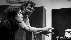 La emoción de Lali Espósito durante una grabación junto a Fito Páez