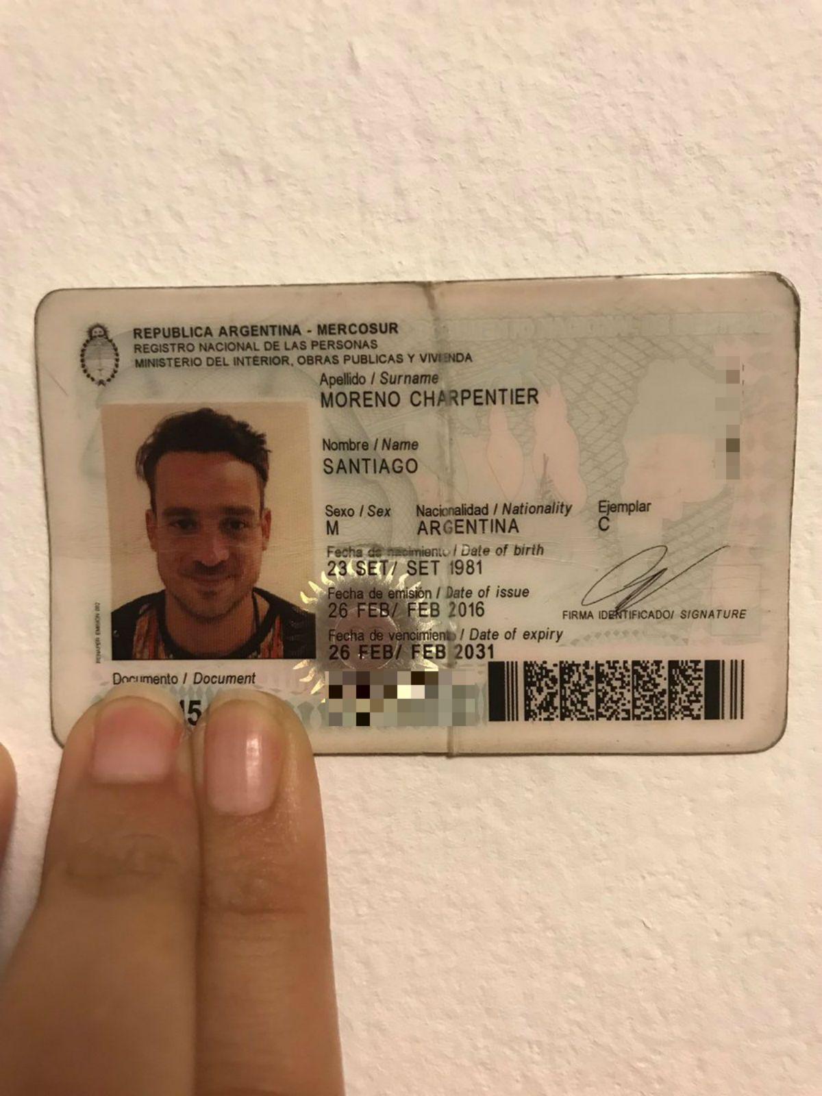 Después del confuso robo, encontraron el DNI de Chano en Barcelona