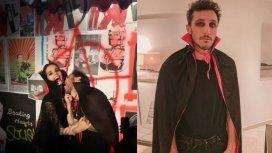 Las fotos de la alocada fiesta de Halloween de Pico Mónaco con su novia Diana Arnopoulos