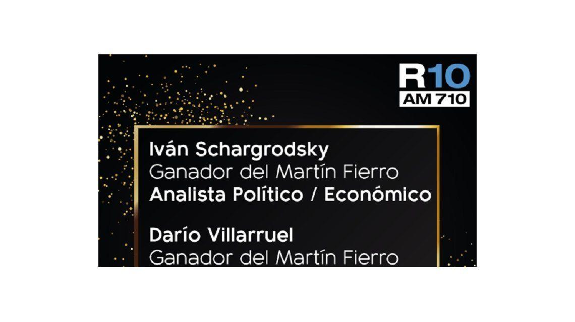 Radio 10 se llevó 3 estatuillas en los Martín Fierro 2019