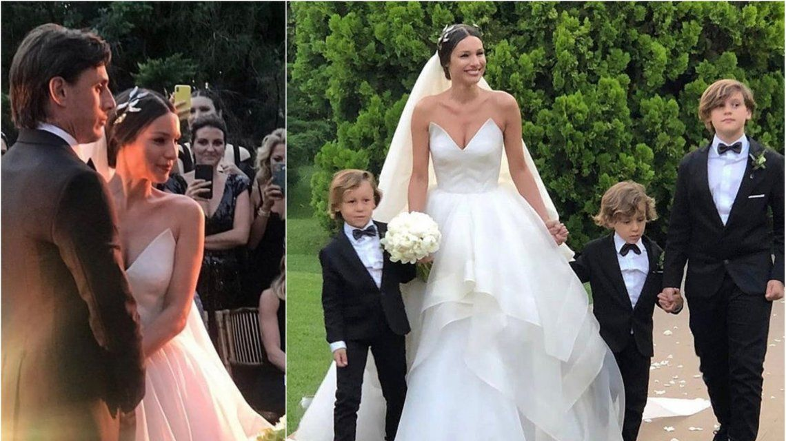 Pampita se casó con Roberto García Moritán tras llegar al altar con sus tres hijos