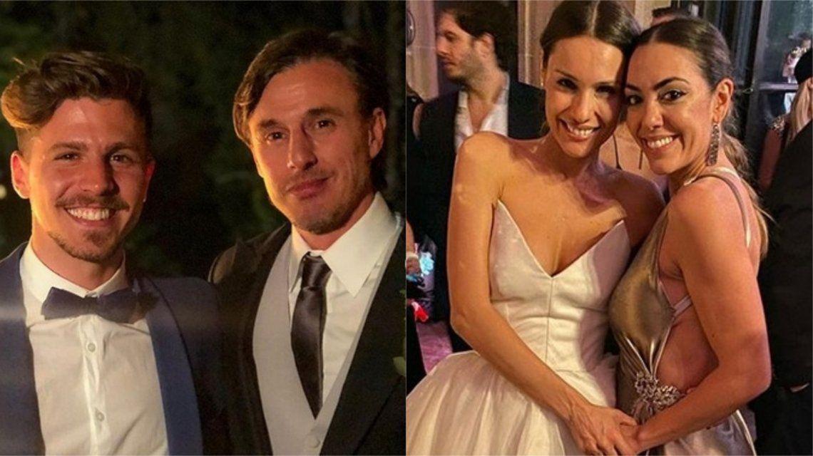 Floppy Tesouro, a los besos con un amigo de Roberto García Moritán en el casamiento de Pampita