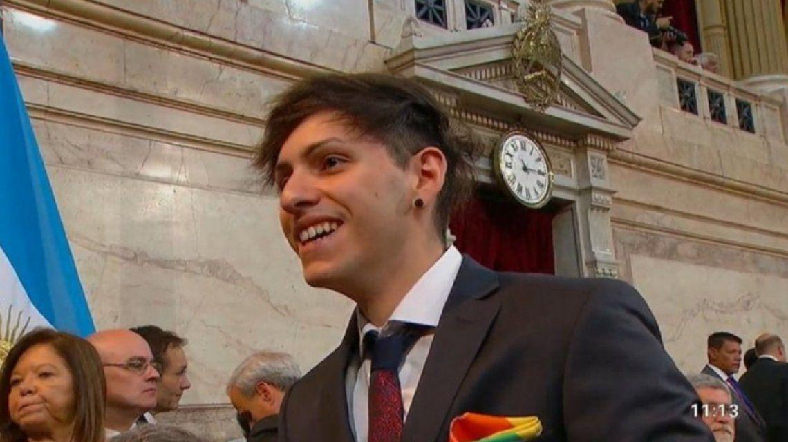 El gesto de Estanislao durante la asunción de Alberto Fernández a favor del colectivo LGTB+