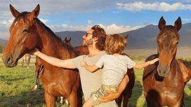 El día de campo de Benjamín Vicuña con sus hijos