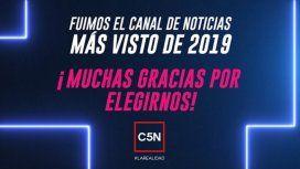 C5N se consagró como el canal de noticias más visto de 2019