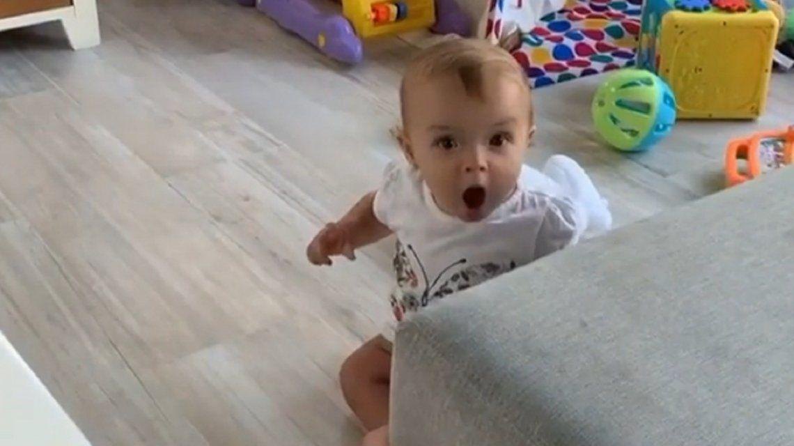 El tierno video de la hija de Benjamín Rojas cuando lo reconoció en televisión