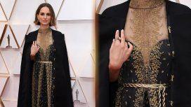 Premios Oscar: el vestido de Natalie Portman en homenaje a las directoras que no fueron nominadas