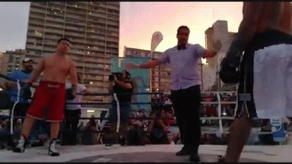 Maravilla Martínez y Luciano Castro, a las piñas en Mar del Plata