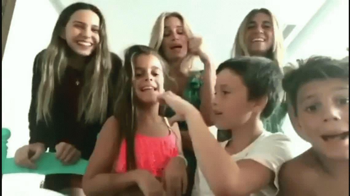 Los divertidos videos de Florencia Peña con su nuera Juanita Tinelli y toda su familia