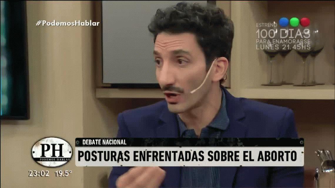 Fuerte cruce entre Gastón Recondo y Juan Minujín por la despenalización del aborto