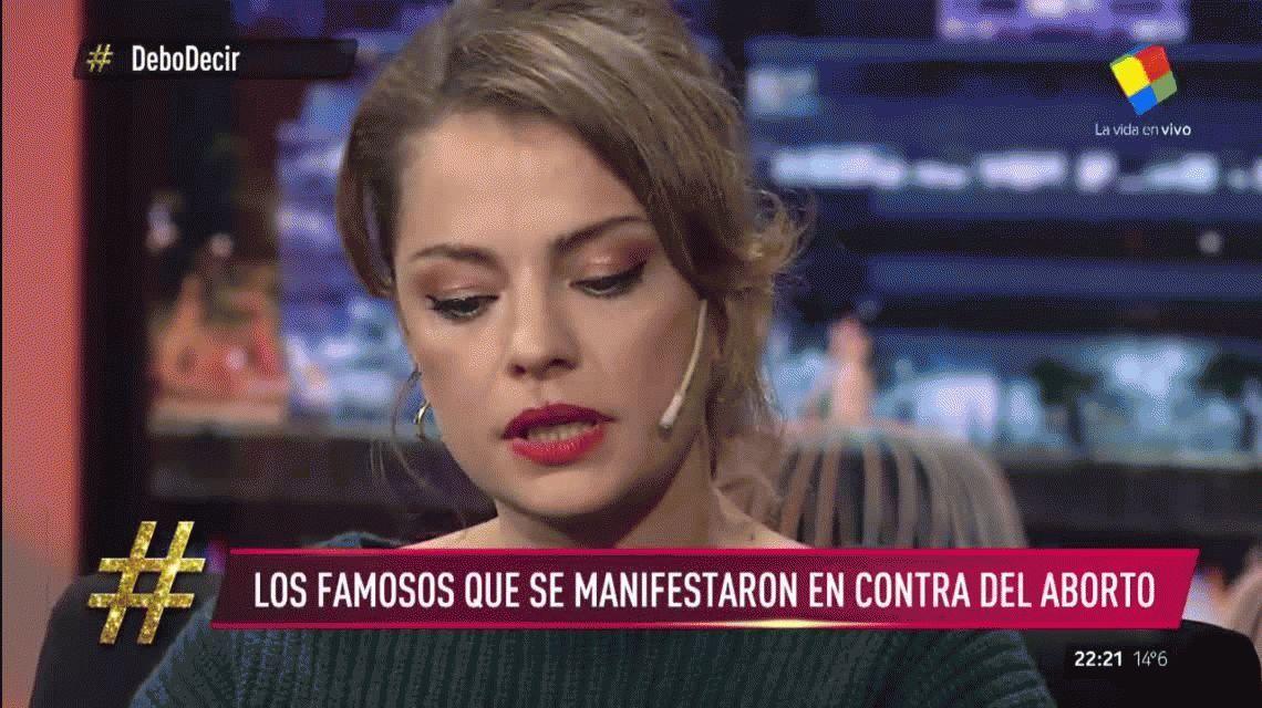 Aborto: fuerte cruce del periodista Mariano Obarrio con Dolores Fonzi y Violeta Urtizberea