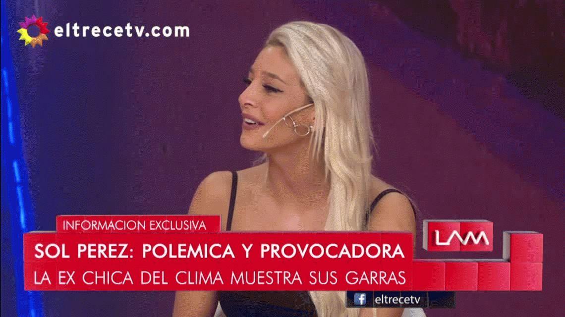 Desilusión en vivo: Sol Pérez se enteró al aire que Exequiel Palacios tendría novia