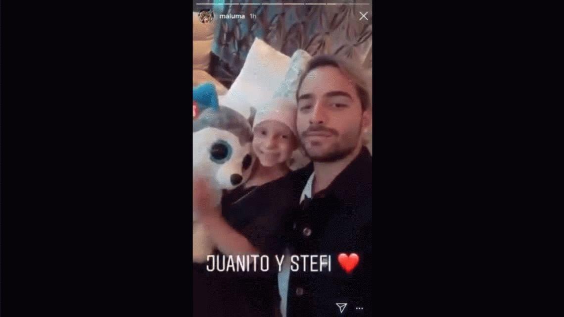 El gran gesto de Maluma con una nena argentina con cáncer