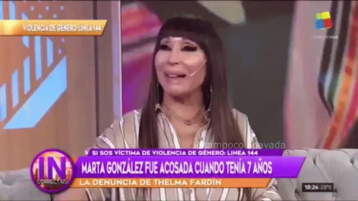 El desubicado comentario de Moria Casán cuando Marta González reveló que fue abusada